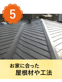 お家に合った屋根材や工法